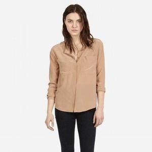 Everlane The Silk Pocket Blouse Top Medium